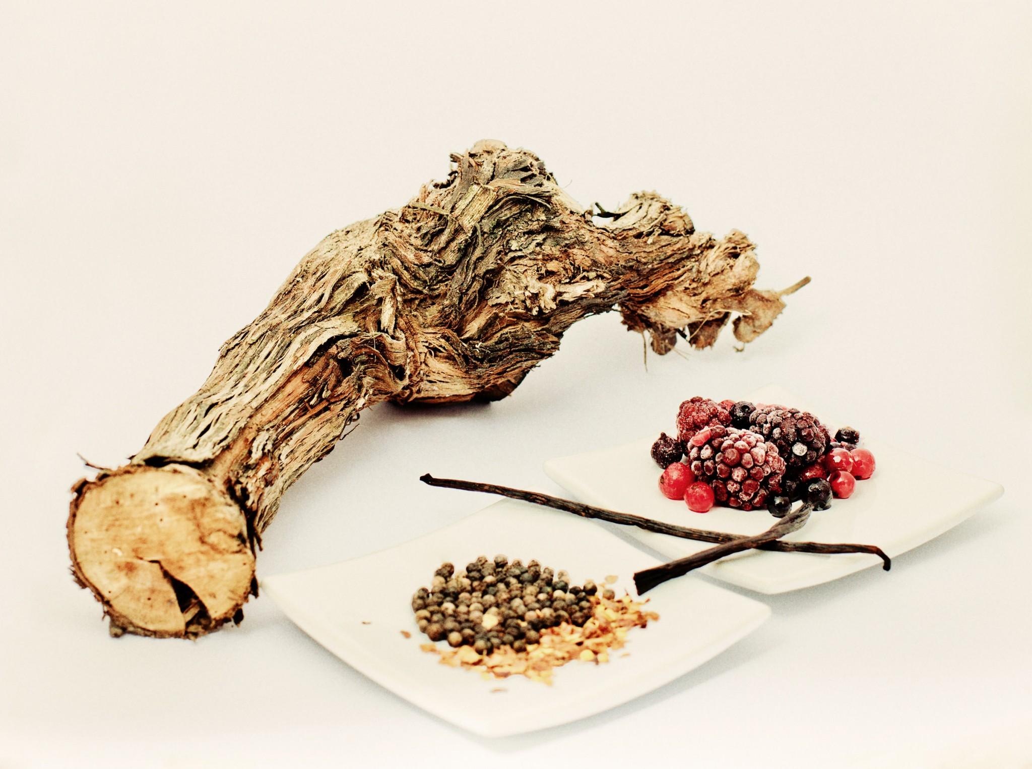 Geschmacksrichtung Holz, Beeren und Pfeffer