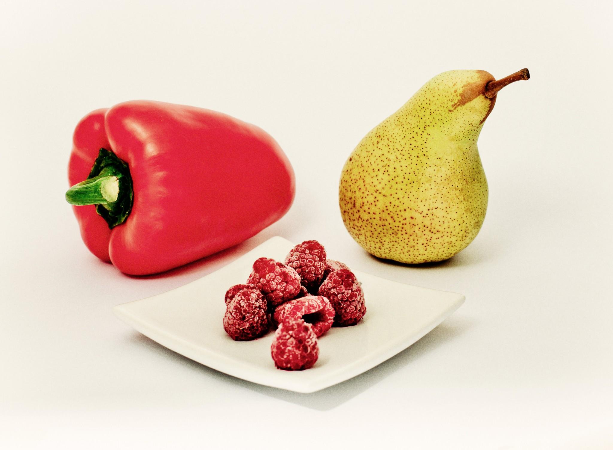Geschmacksrichtung Himbeere, Paprika und Birne