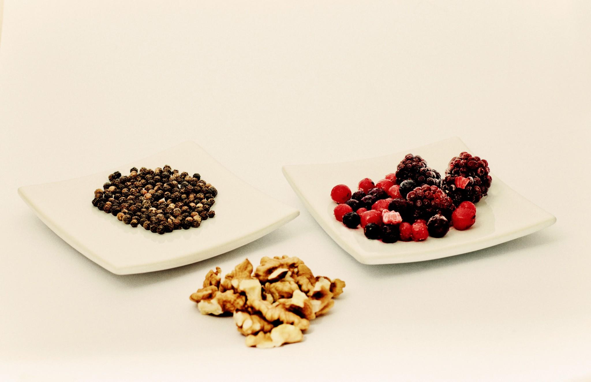 Geschmacksrichtung Beeren, Pfeffer und Walnuss