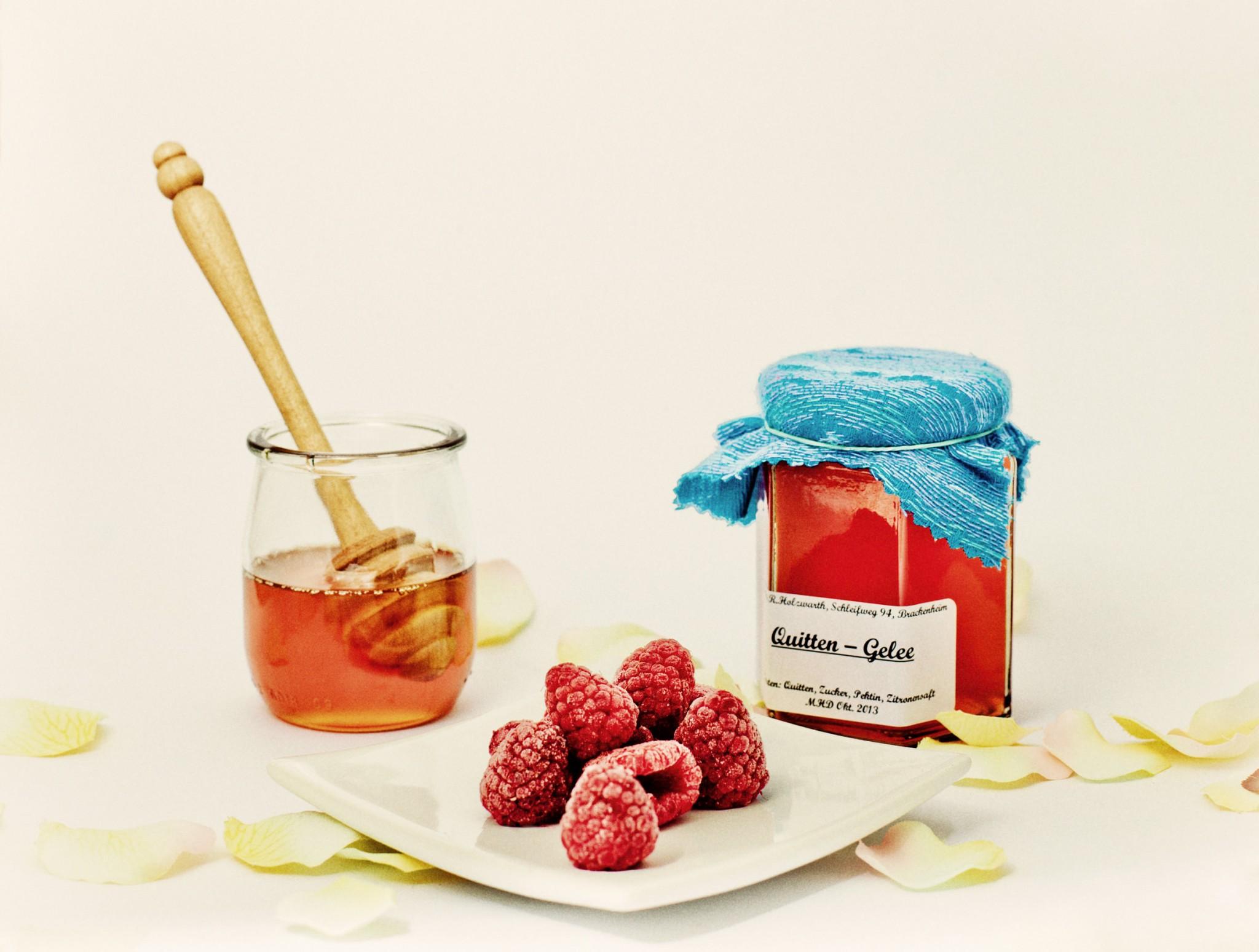 Geschmacksrichtung Himbeere Honig und Quitte