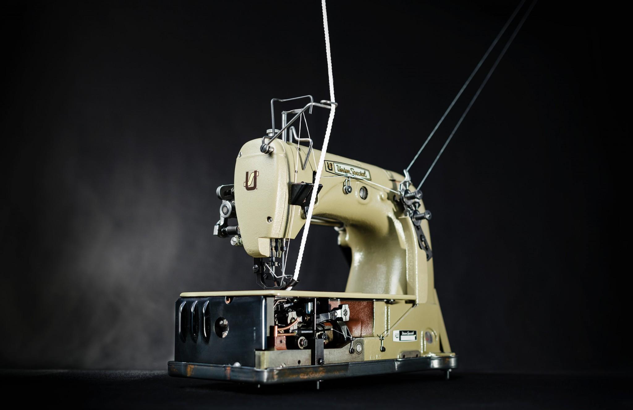 Einnadel Doppelkettenstichmaschine
